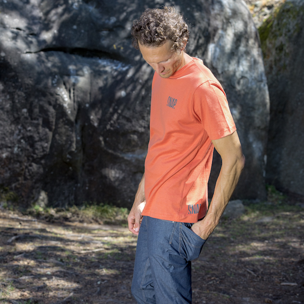 climbing clothing t-shirt for man