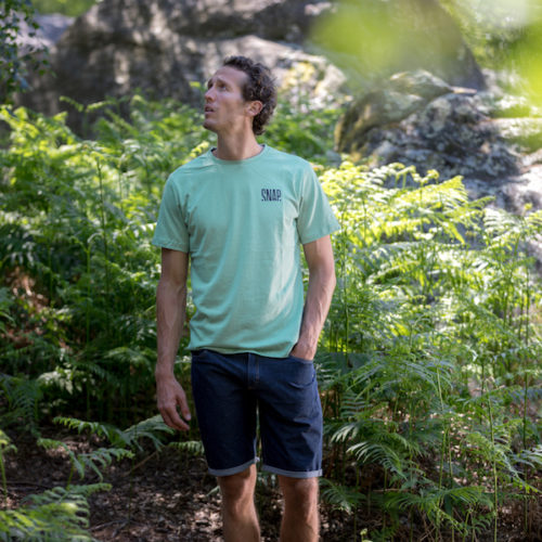 light green t-shirt for man in hemp