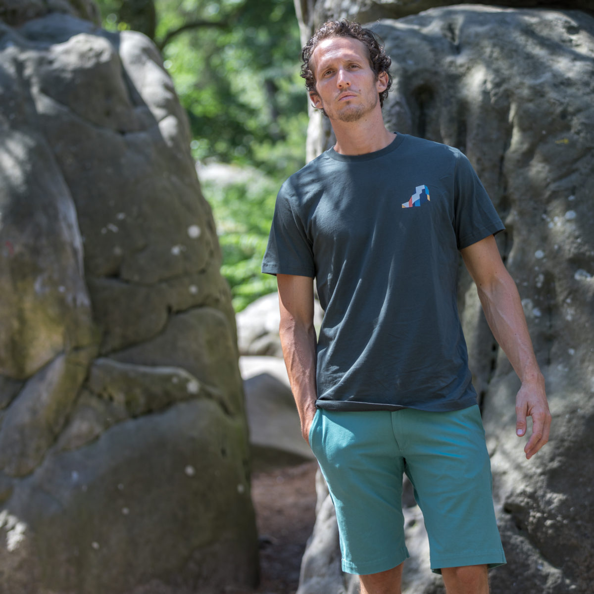 grey organic cotton t-shirt man