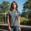 grey organic cotton t-shirt woman