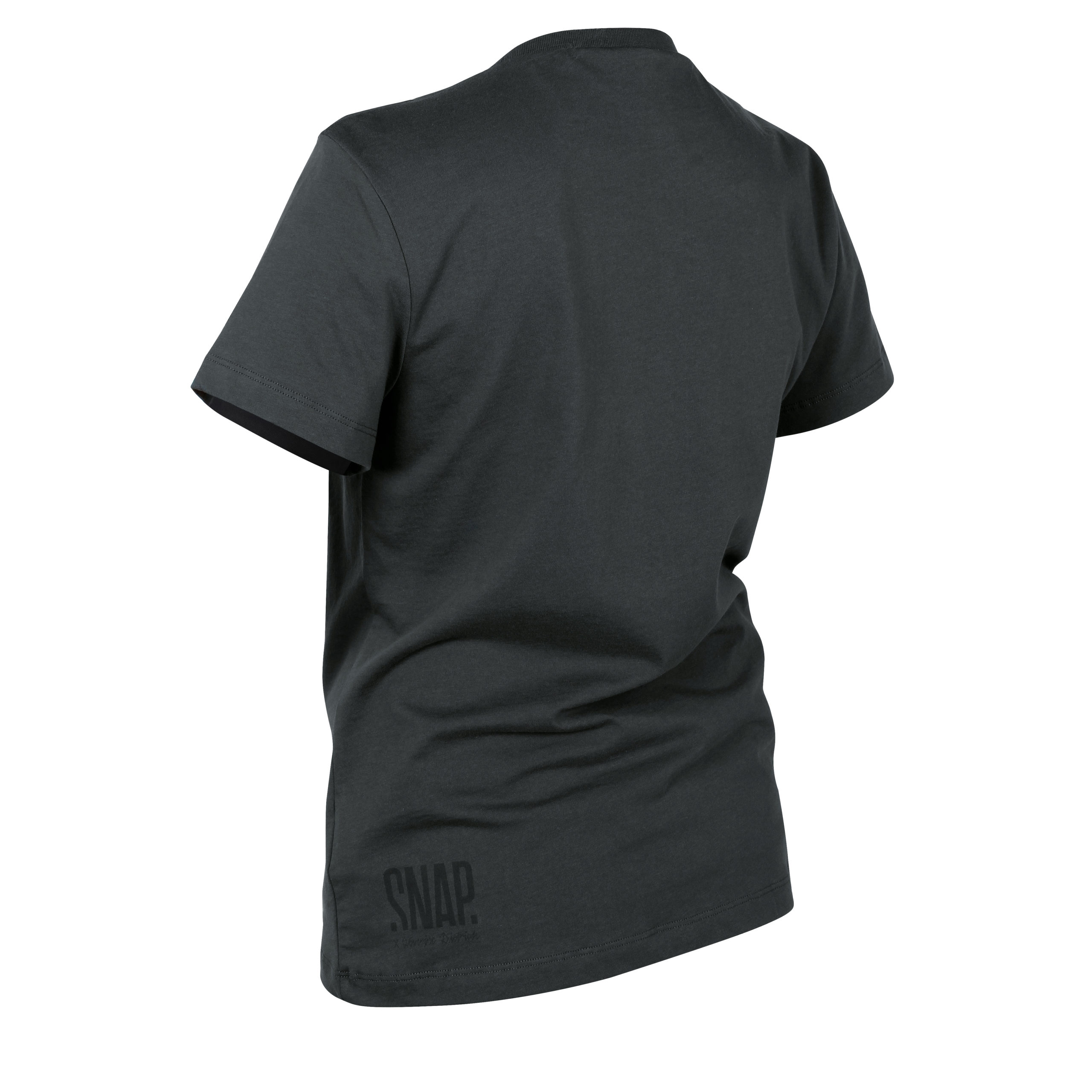 organic cotton black t-shirt back