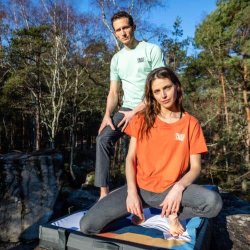 organic cotton and hemp t-shirt outdoor pic