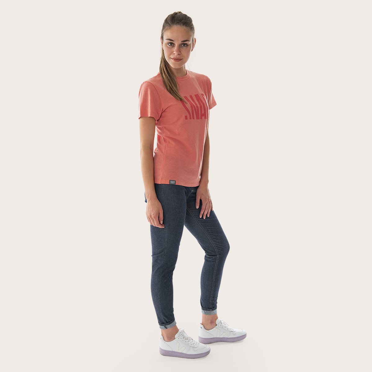 t-shirt merino wool for woman emberglow