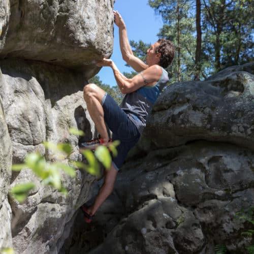 climbing shorts in denim
