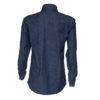 stretch organic cotton jean shirt for man back