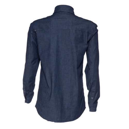 stretch organic cotton jean shirt for man back