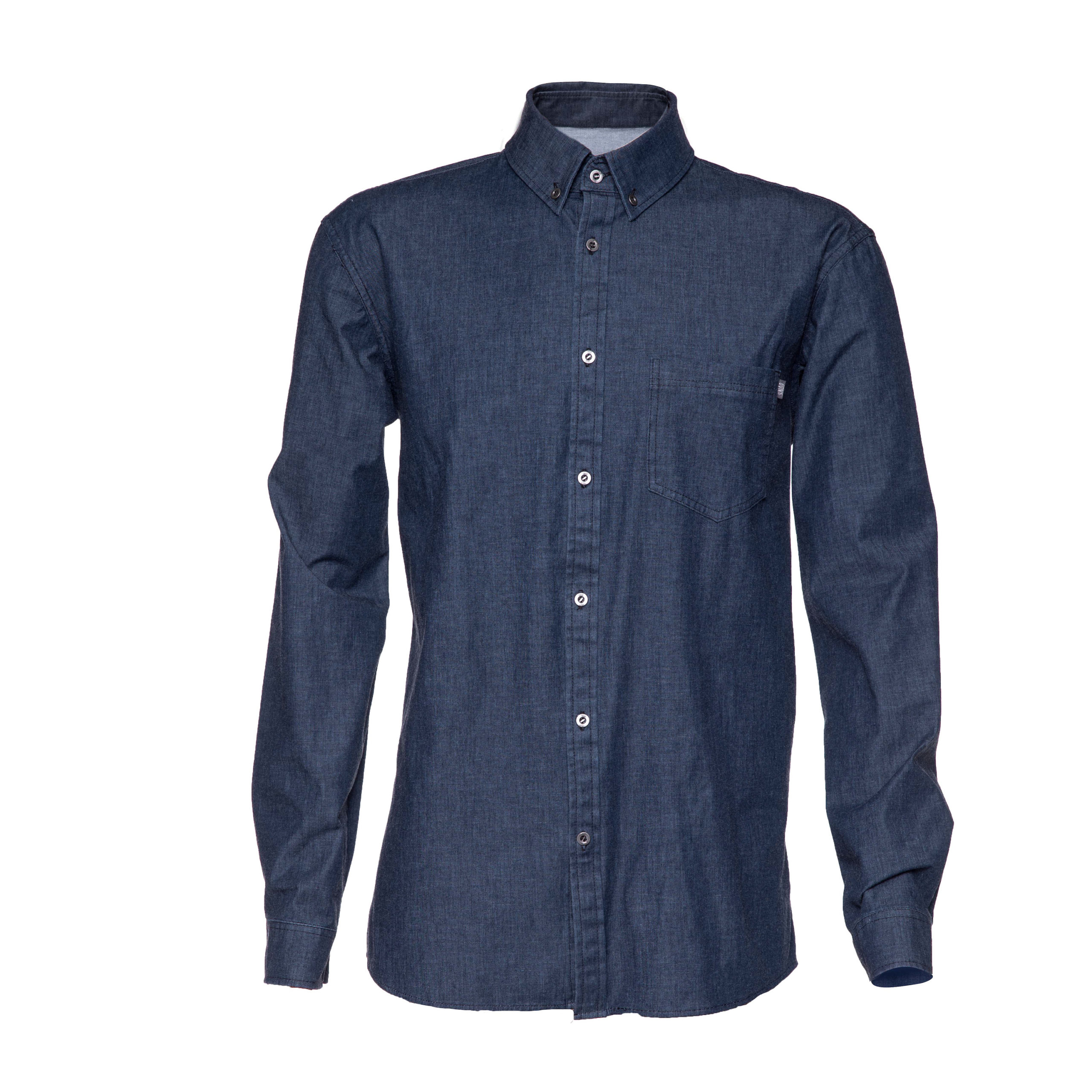 stretch denim shirt for man in organic cotton front