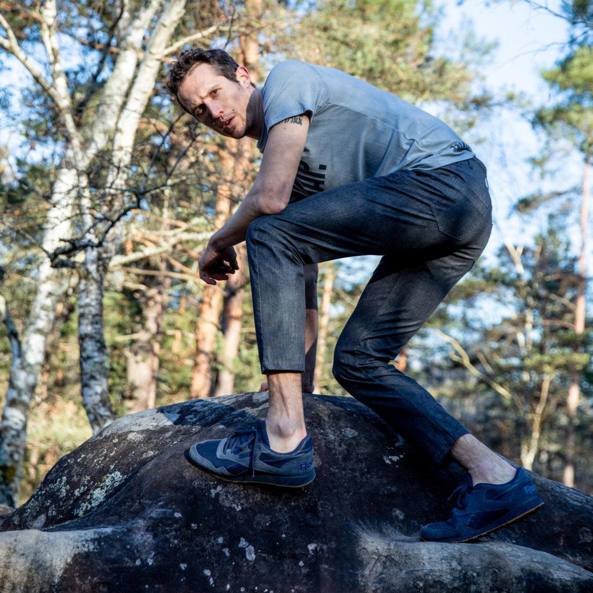 climbing jeans for man