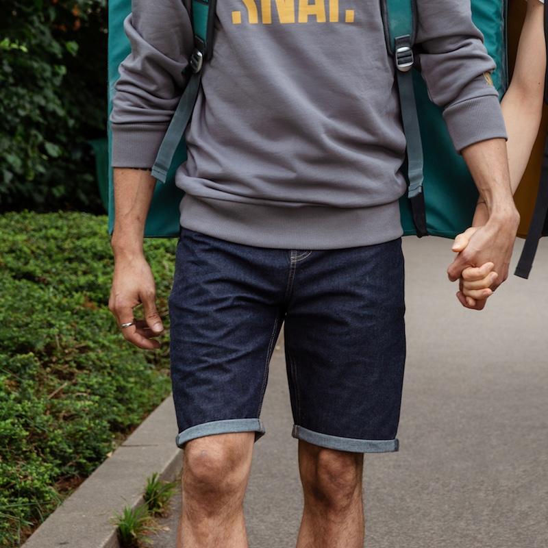 jean short for man organic cotton