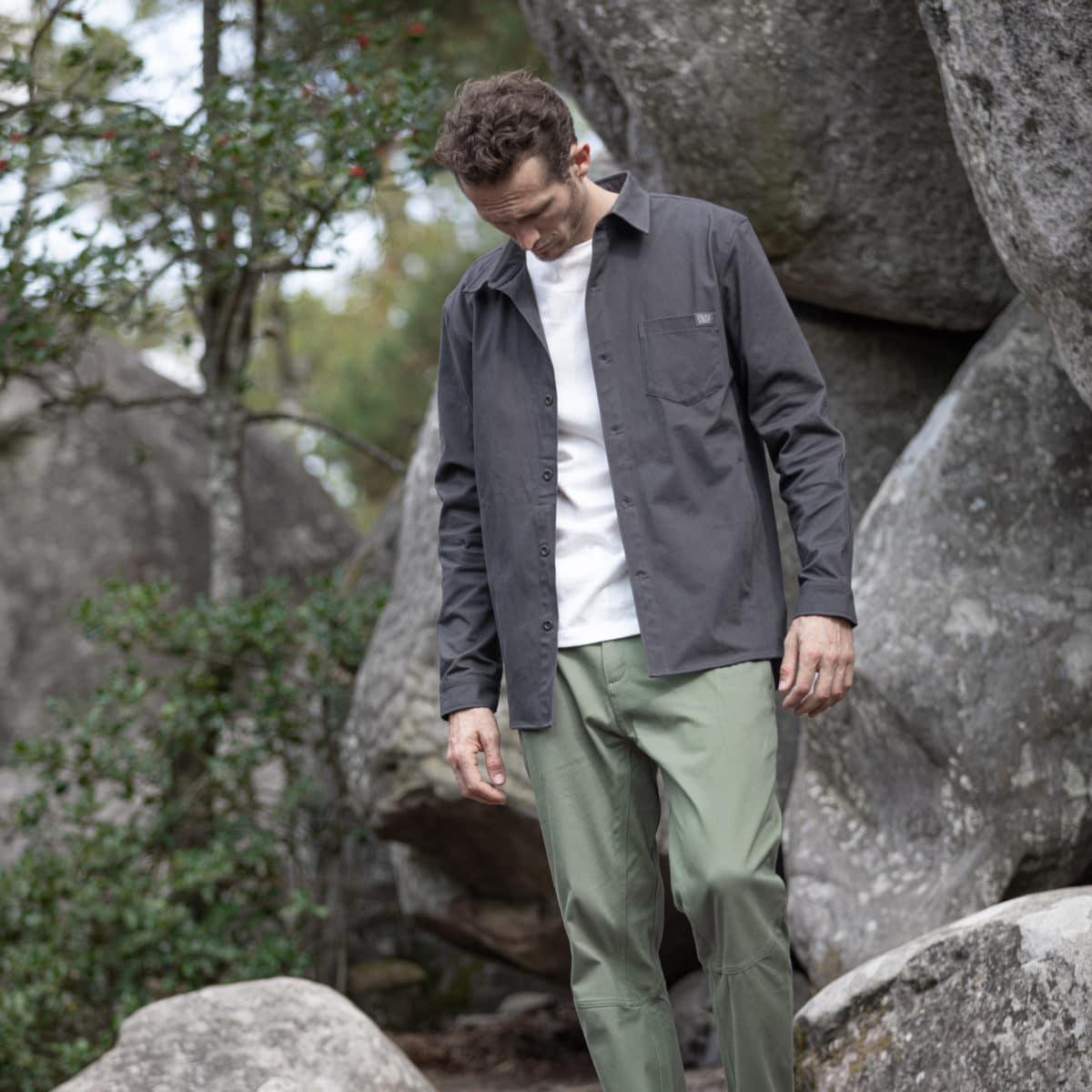 organic cotton kaki pants for man