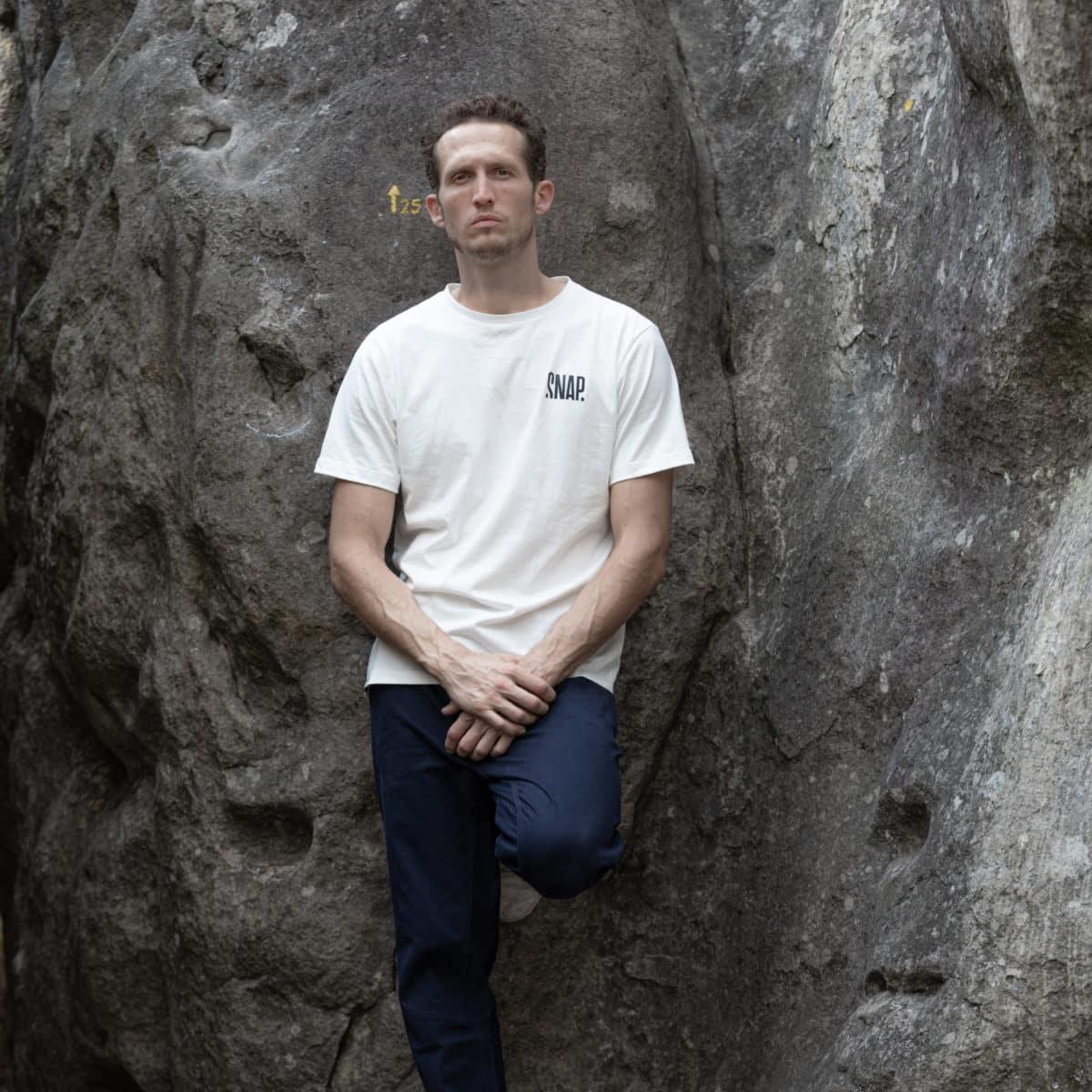 organic cotton dark blue pants for man