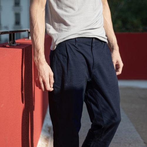 dark blue street wear pants