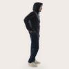 black shell jacket for man