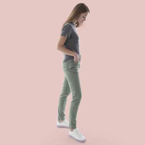high rise waist pants for woman
