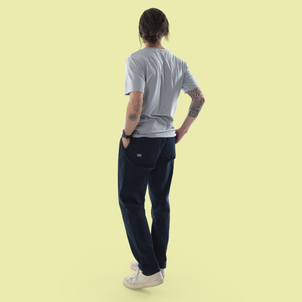 dark blue casual pants for man