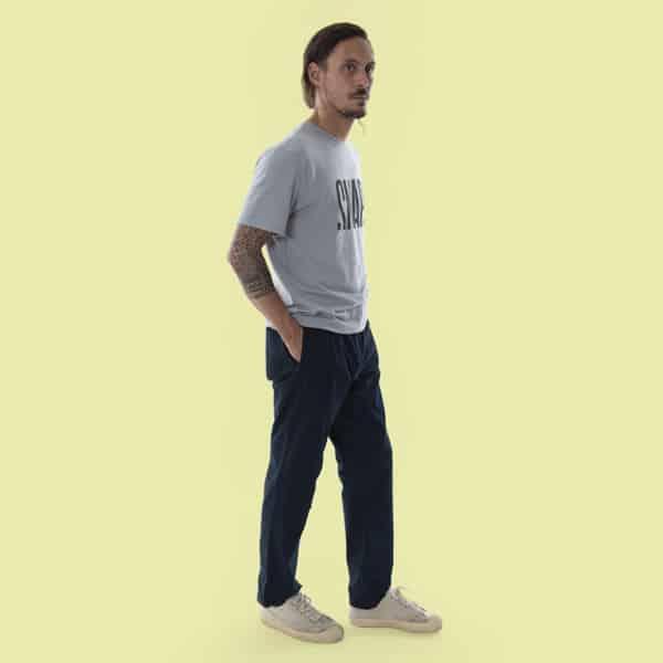 dark blue street style pants for man