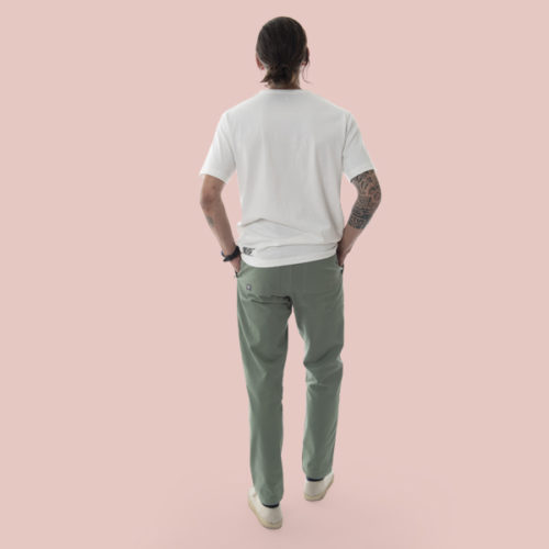 kaki pants for man organic cotton