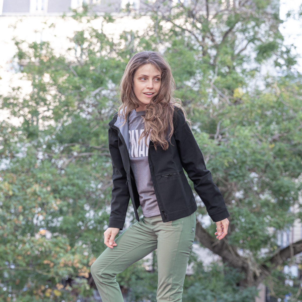 slim stretch pants for climbers