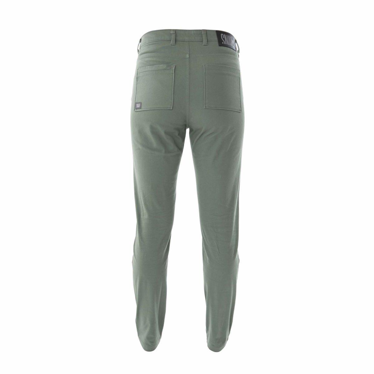 high rise pants kaki color woman