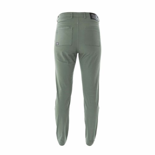 high rise pants kaki color woman