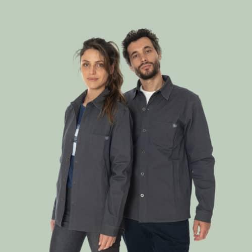 grey stretch overshirt