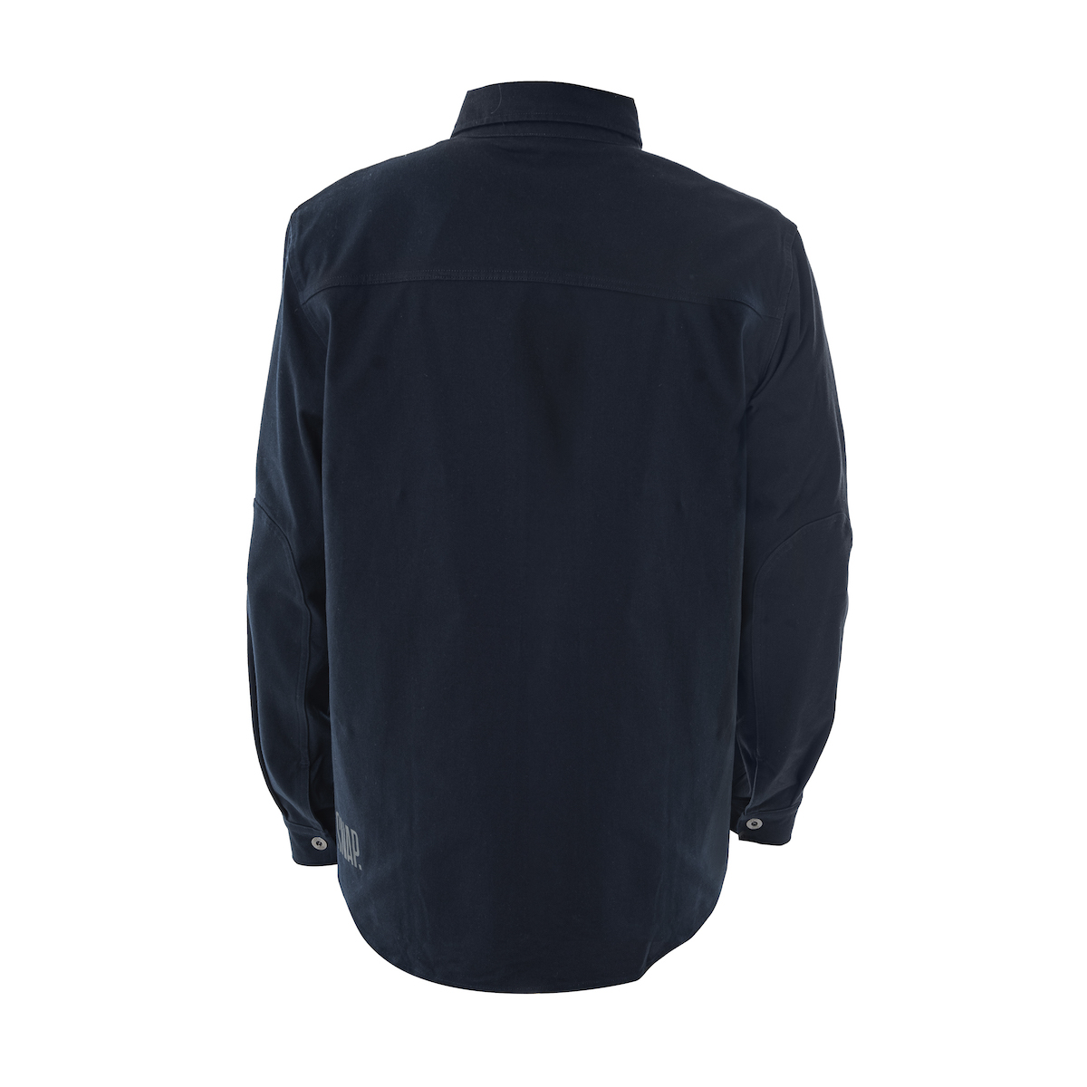 man dark blue overshirt to climb