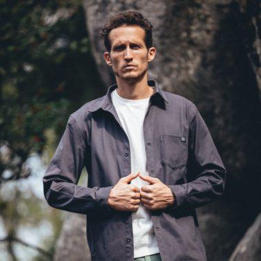 overshirt grey for man