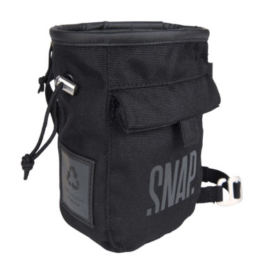 black chalk bag with scratch from snap