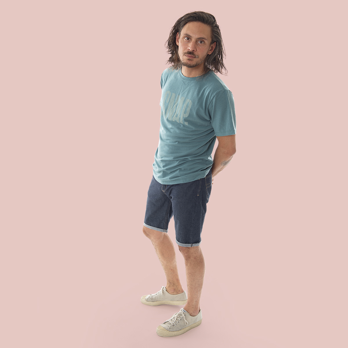 green merino wool t-shirt for man