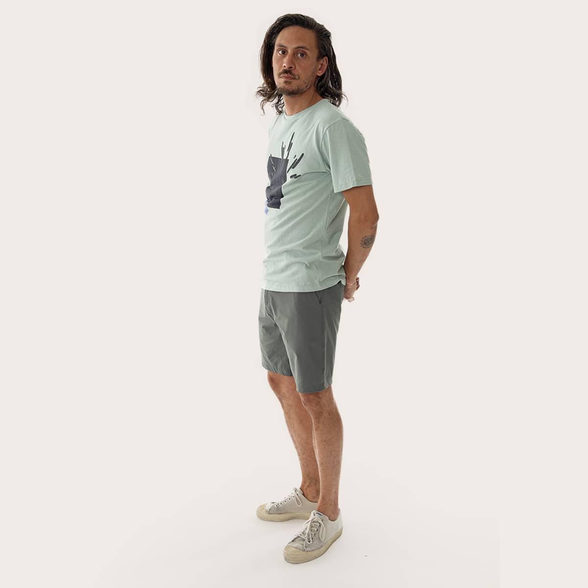 climbing tshirt in organic cotton
