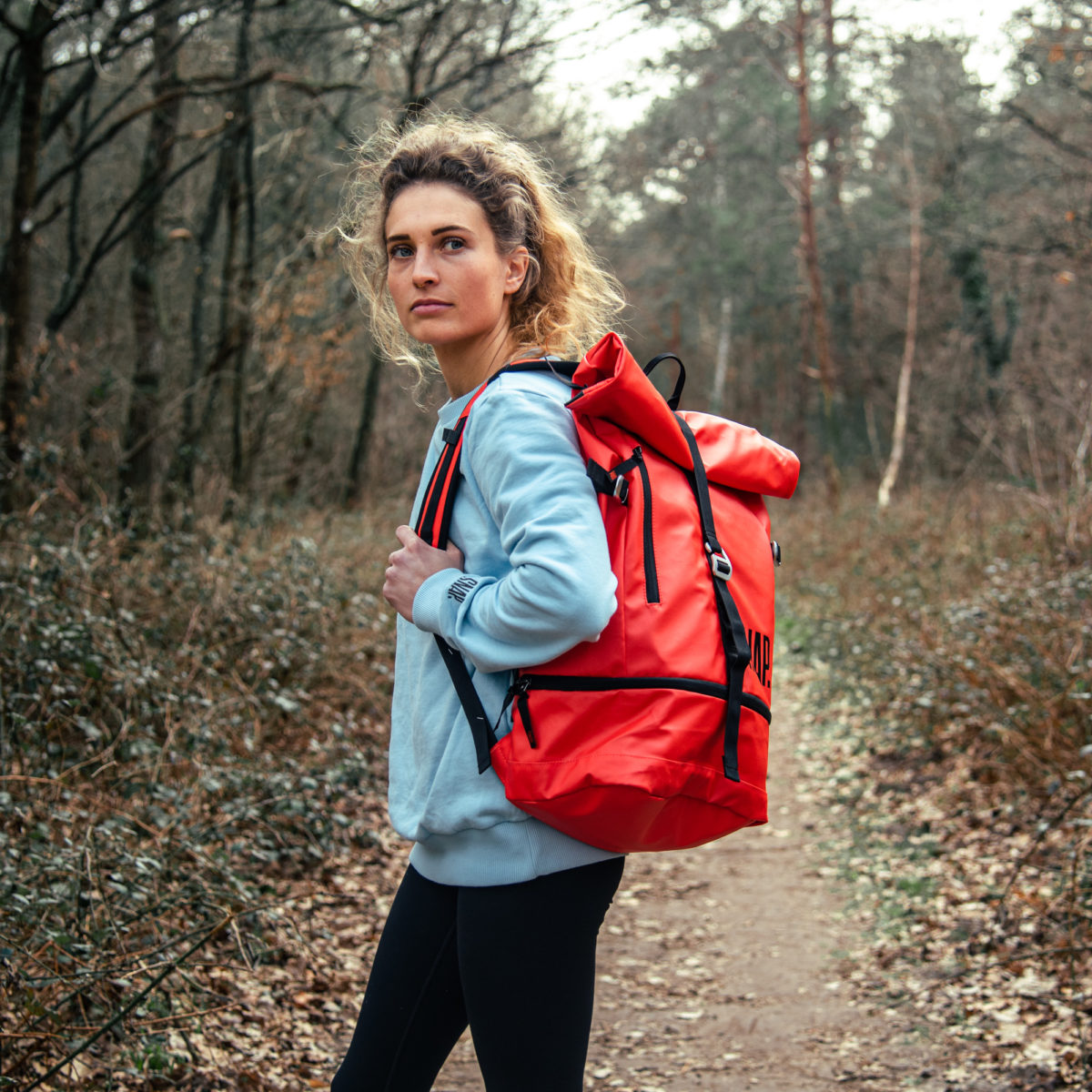 25L laptop tangerine backpack