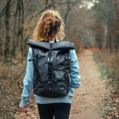 25L laptop backpack black color
