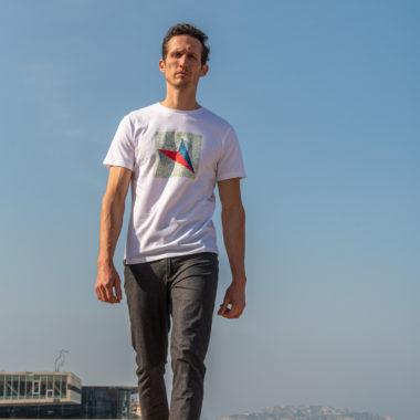 Organic white T-shirt for man Astro x SNAP
