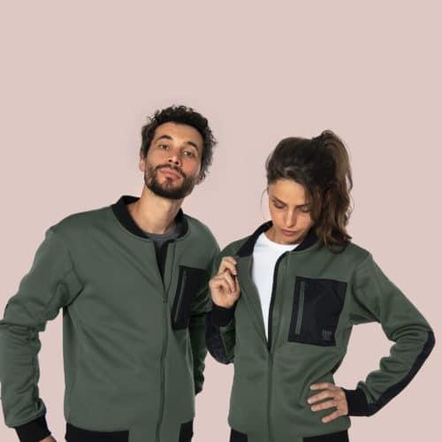 fleece jacket bomber style